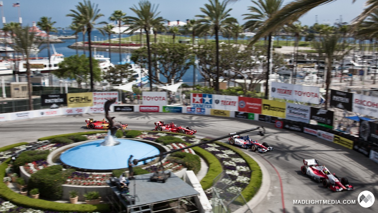 IndyCars at Long Beach Grand Prix